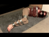 Taped on floor Preview (bondage bound feet tape taped gag gagged)