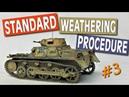 How to Weather DAK Model Tanks Standard Weathering Procedure Ep 3