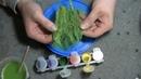 Изготовление травы 1 35 из сантехнического льна Manufacturing of grass 1 35 from sanitary flax