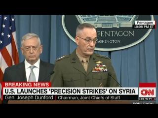 Не было никакой координации с русскими по поводу ракетного удара и мы не предупреждали их заранее
