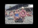 1960s Busy Beach, Summer Holiday, Russia in HD