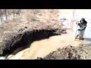 Пожарно спасательные подразделения провели работы по обустройству канала для отвода воды с подтопленных территорий в р Берсуван