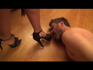 Hard shoes domination, hand trampling and whipping (part 2)