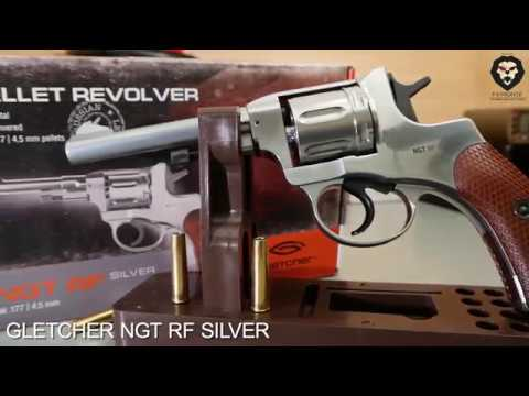 Пневматический наган GLETCHER NGT RF SILVER со стрельбой