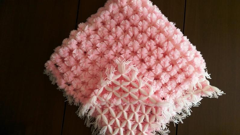 Baby Pom Pom Blanket Loom Ponponlu bebek battaniyesi yapımı