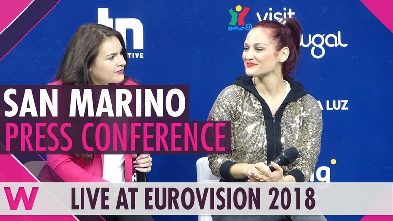 San Marino Press Conference Jessika featuring Jenifer Brening Who We Are @ Eurovision 2018