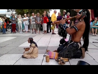 All the spectators were speechless when this man from the Indian tribe began to play