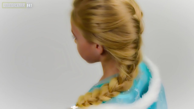 Frozen Elsas Braid. Halloween 2017. Quick and Easy hairstyle for little pricess 41