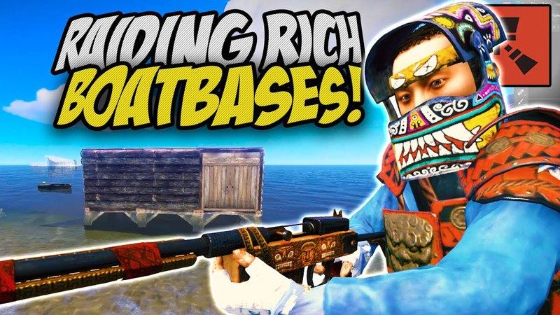AWESOME RAIDS on BOATHOUSE BASES! - Rust Solo Survival Gameplay
