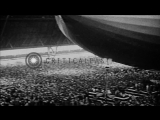 United States airship Akron being launched in Akron, Ohio, by first lady, Mrs. Ho...HD Stock Footage