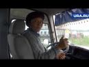 Девушка-гастарбайтер за рулем автобуса в Екатеринбурге