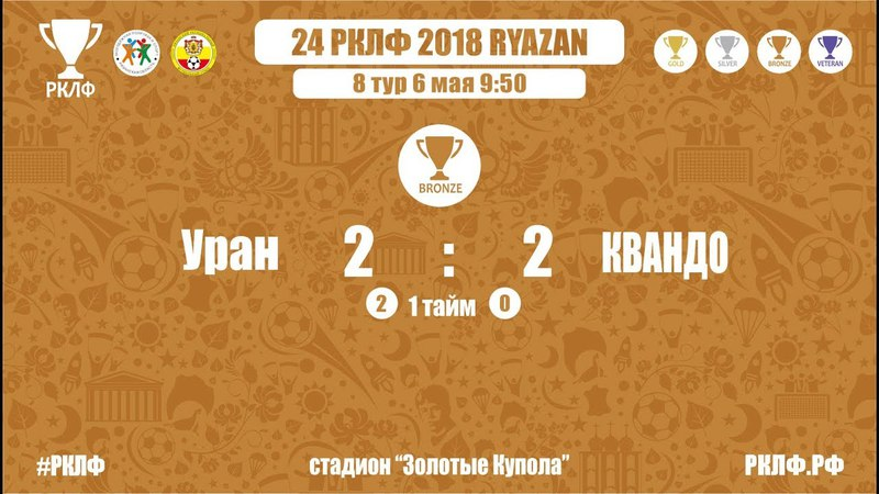 24 РКЛФ Бронзовый Кубок Уран-КВАНДО 2:2