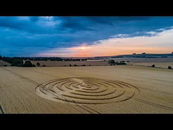 Crop Circle Sunrise Winterbourne Bassett 19/7/2018
