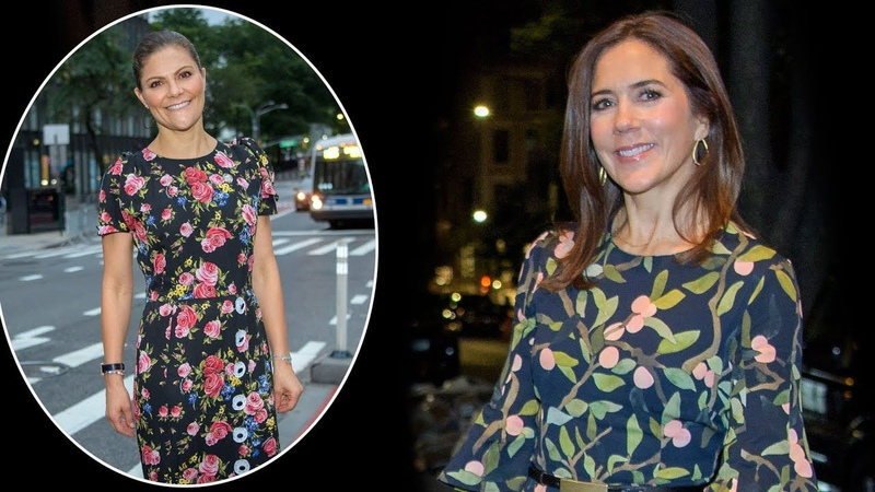 Kronprinsesse Mary og kronprinsesse Victoria strålede i New York