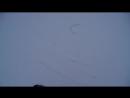 Первые попытки катания на сноуборде