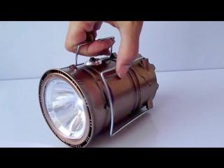 Кемпинговый складной фонарь с солнечной панелью и power bank