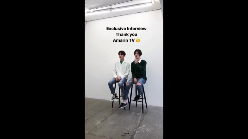 180523 Чани и Хвиён SF9 @ LeayDoDee Studio's (leaydodee) Instagram Story