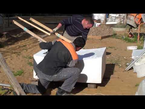 Как вырезается радиусный лист пенопласта для приклейки на радиусный фасад
