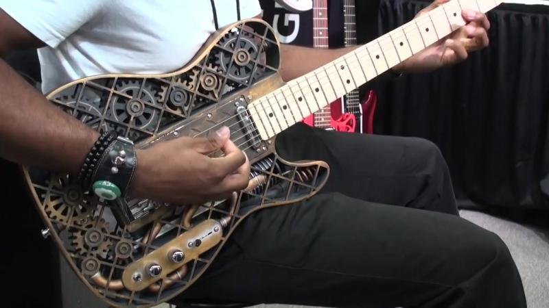 The Steampunk 3D printed guitar