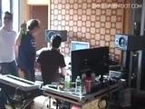 Dave Gahan in the studio