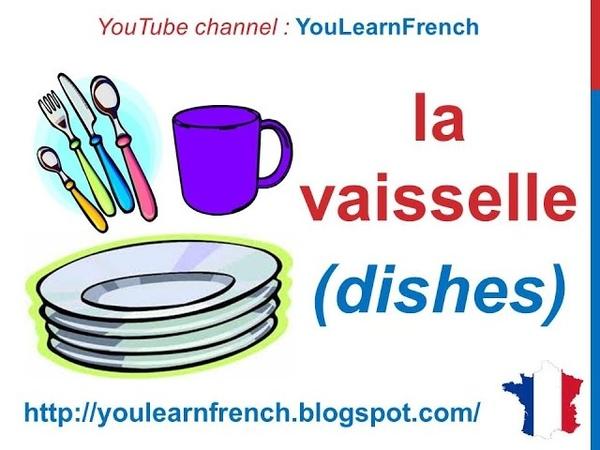 French Lesson 82 Kitchen Utensils Appliances Vocabulary Ustensiles de cuisine Utensilios de cocina