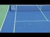 US Open Hot Shot- Roger Federer Goes AROUND The Net