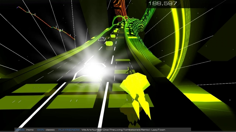 Rytp322 ► Play ► Audiosurf2 ► The Living Tombstone - We Are Number One Remix but by The Living Tombstone (Lazytown)