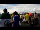 Щвеция-Англия. Самара Арена 2018. Шведские болельщики идут на матч.