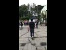 Холлэнд на съёмках Макгайвер