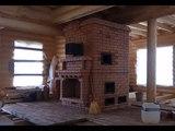 Печь с котлом, камином, плитой, жаровой камерой и вытяжкой