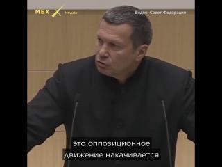 Владимир Соловьев в Совете Федерации