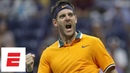 2018 US Open highlights: Juan Martin del Potro fired up after advancing past Borna Coric | ESPN