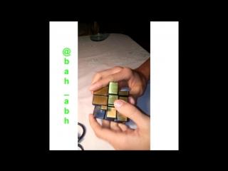 Сборка кубика рубика 3х3 (зеркальная)