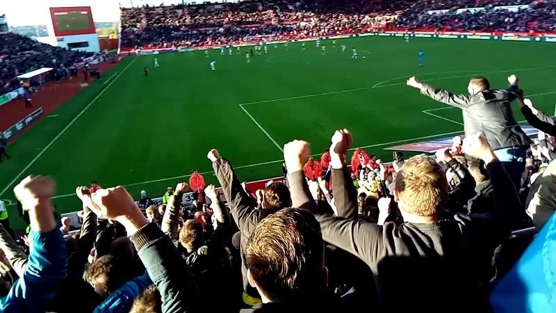 Birmingham City V Stoke City 5 Minutes Injury Time and Celebrating The Win