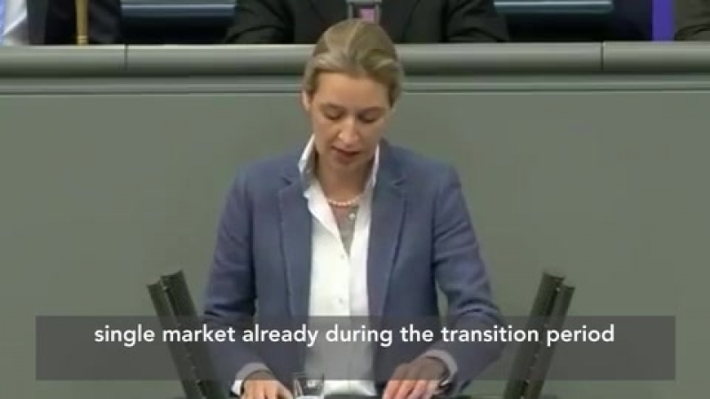 WATCH: Bundestag speech SCOLDING Merkel for THREATS to Britain prompts HUGE APPLAUSE