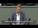 WATCH Bundestag speech SCOLDING Merkel for THREATS to Britain prompts HUGE APPLAUSE