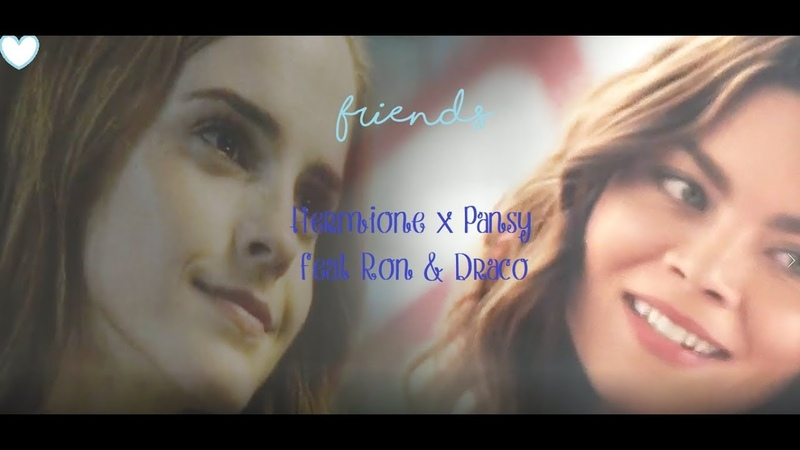 Friends ::: Hermione/Pansy femslash feat Ron and Draco (smutty)