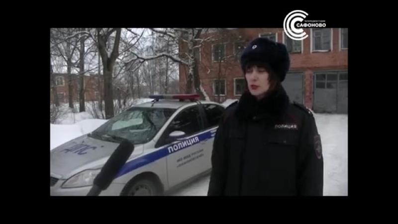 Школьники поздравили водителей с 23 февраля Сафоново
