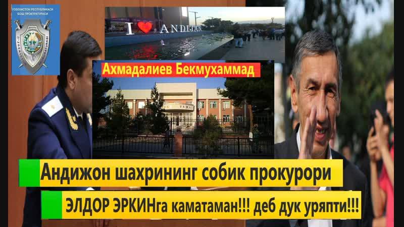 Андижон шахрининг собик прокурори ЭЛДОР ЭРКИНга каматаман деб дук уряпти