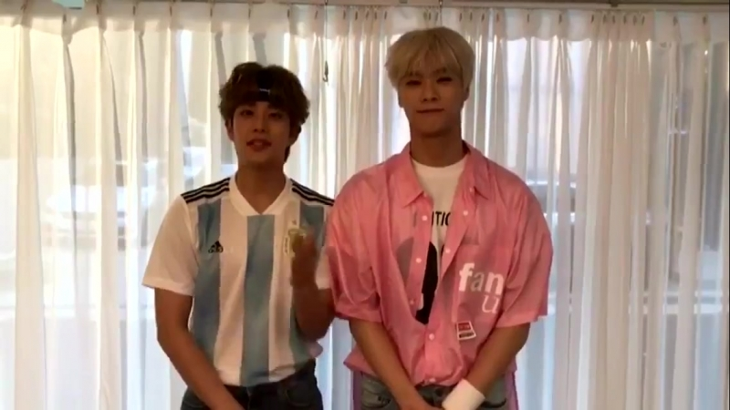 [23.08.2018] MJ Moonbin - Unstoppable cheering squad video on the KBS my K app