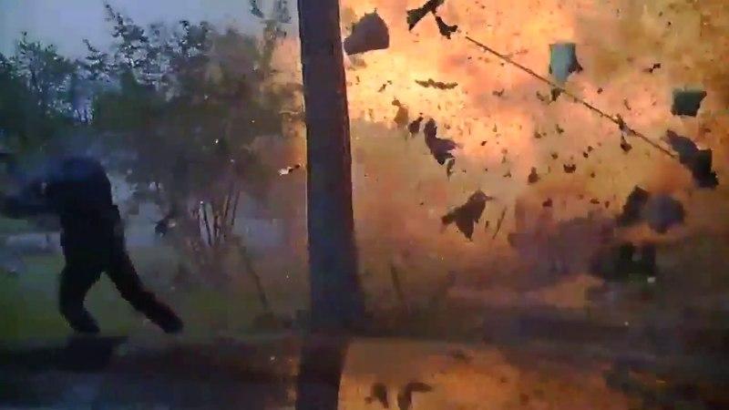 Caught On Camera: Hurst Police Officer Narrowly Avoids House Explosion