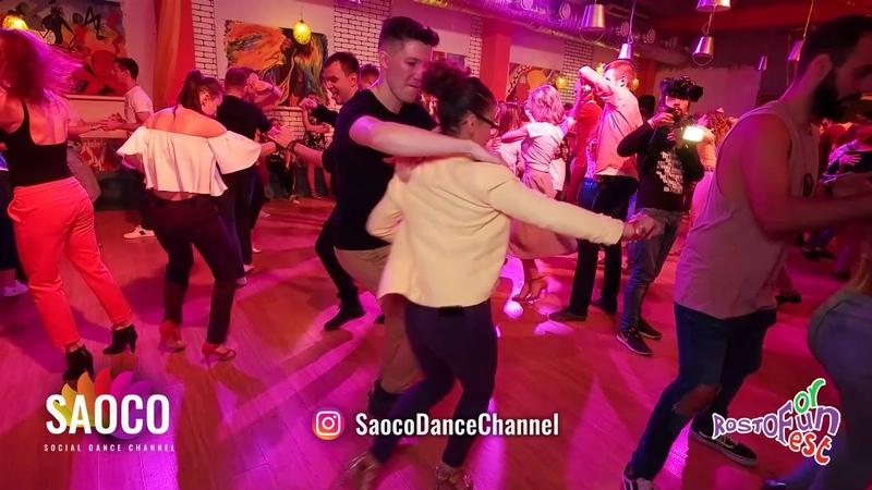 Sergey Shepilov and Amneris Martinez Rosado Salsa Dancing at Rostov For Fun Fest 2018, Friday 02.11.18