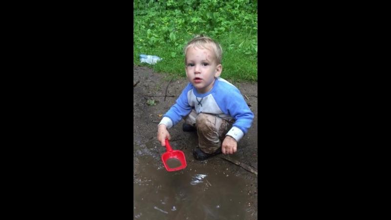 Водные процедуры Глеба в Абрамцеве.