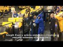 Steph Curry (MCL rehab) start of shooting routine at Oracle Arena, prior to Game 5