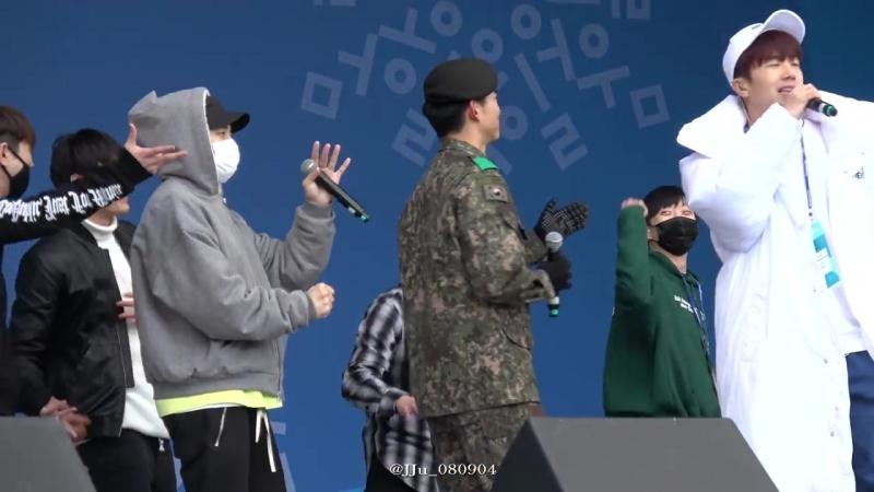 [Фанкам] 180219 2PM - Heartbeat (Фокус на Тэкёна) @ 2018 PyeongChang Winter Olympic Headliner Show - Rehearsal