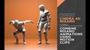 Cinema 4D Mixamo - Combine Mixamo Animations Using Motion Clips
