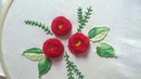 Hand embroidery Designs. Rose stitch for beginners.