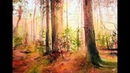 How to paint a Red Forest in Watercolors