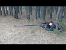 выстрел из охолощенного ПТРС холостым патроном