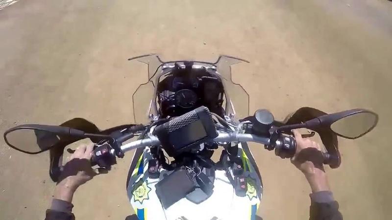 Крутая погоня на мотоцикле со стрельбой! Полиция ЮАР. South African Police Pursuit